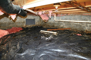 Crawl Space Repair Before in Atlanta